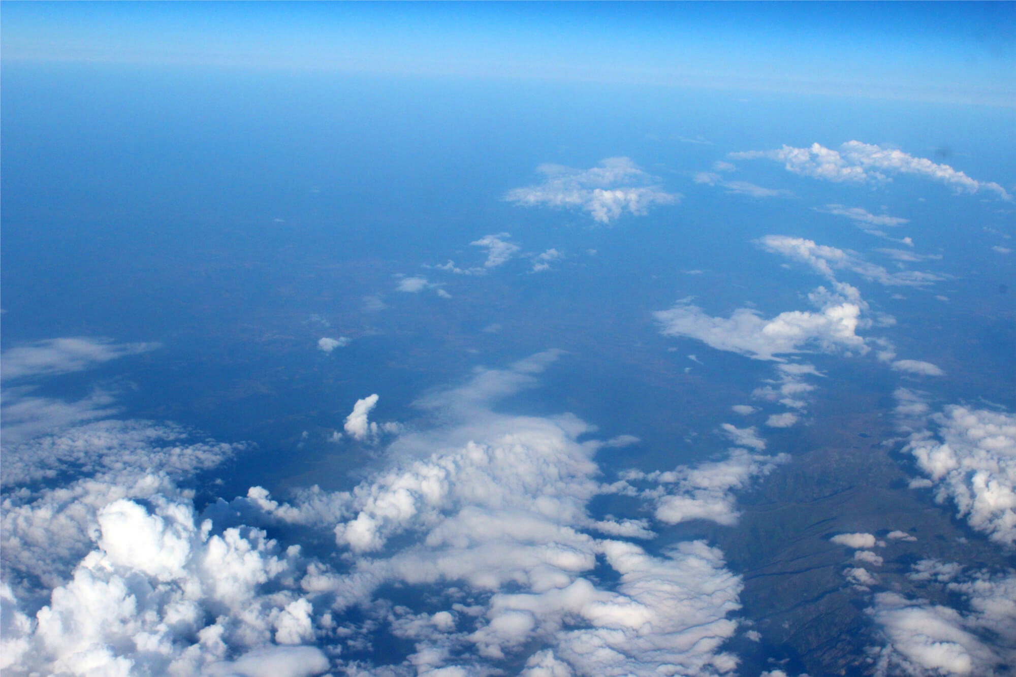 Wolken auf dem Flug von Hannover nach Antalya