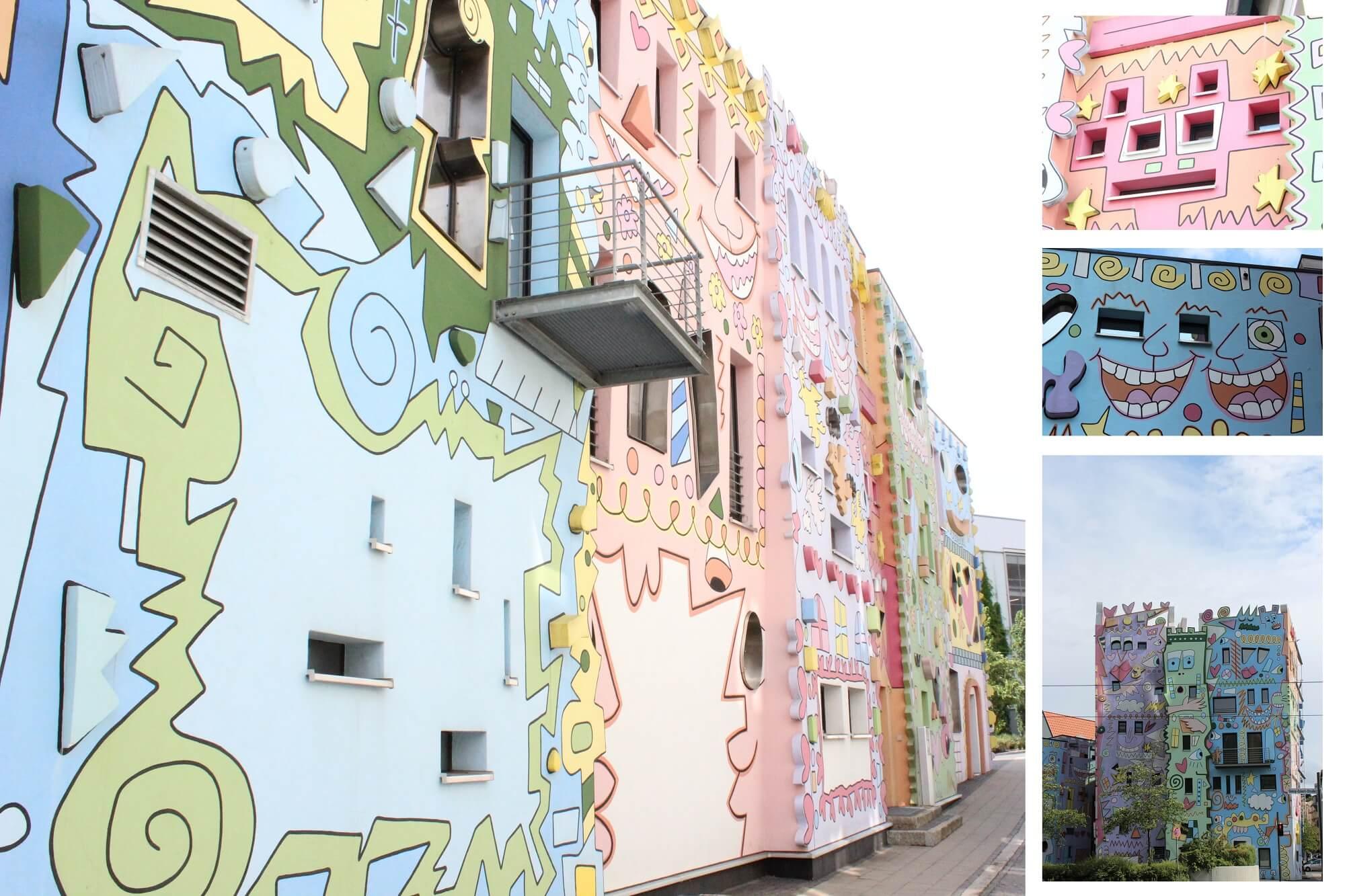 Eine Collage rund ums Rizzi-Haus