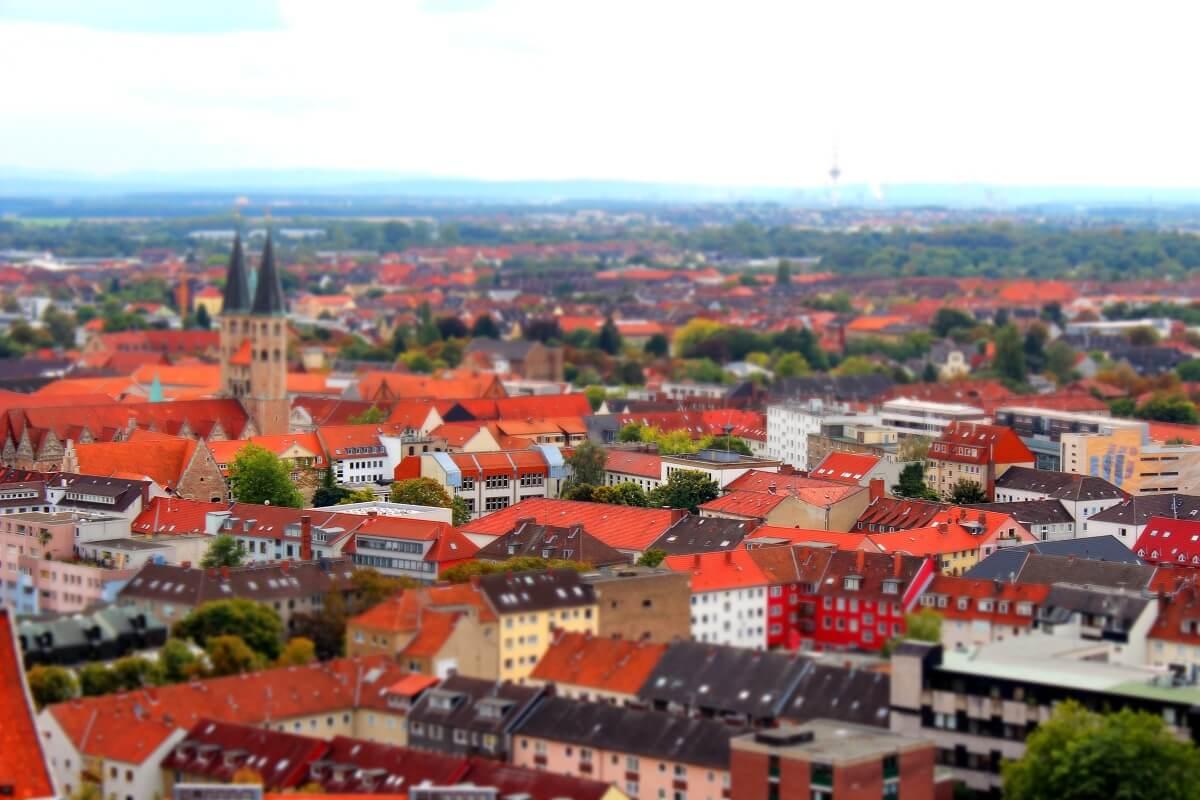 Totale über Braunschweig Richtung Südwesten