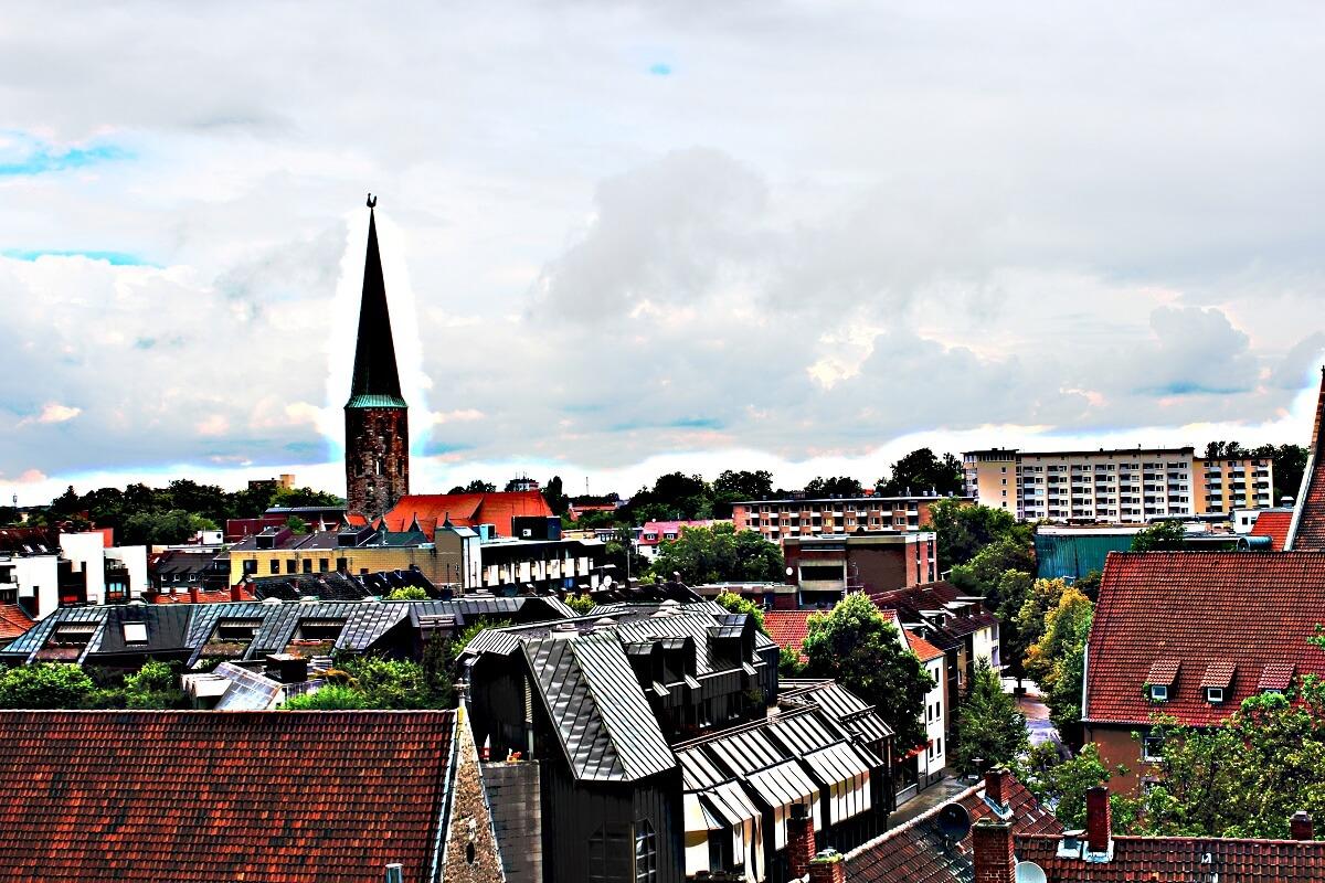 Braunschweig von oben, aber ohne Miniatureffekt