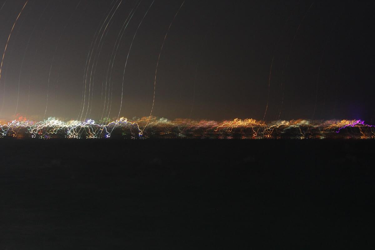 Etwas eigenartige Aufnahme des Horizonts nahe Atalya