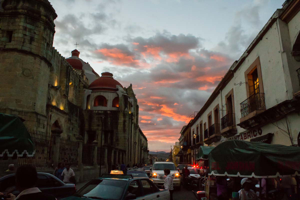 Sunset in Oaxaca